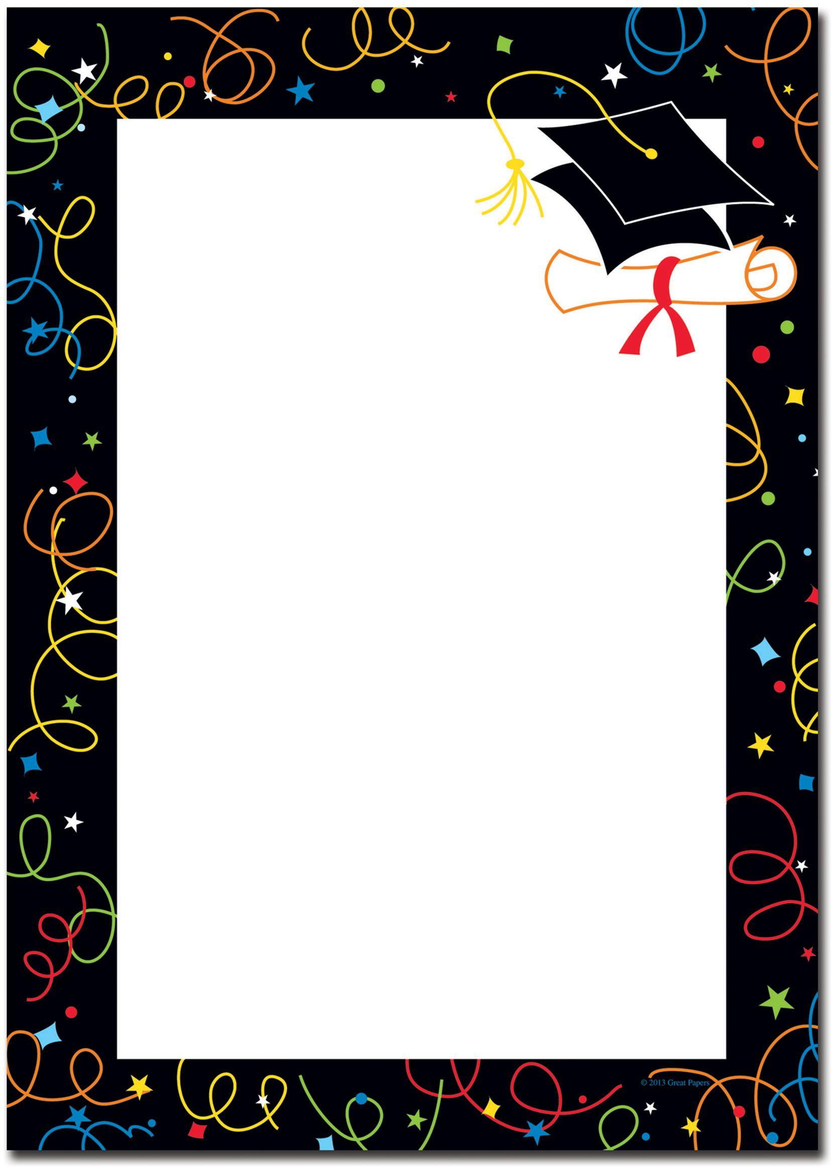 Graduation Borders Graduation | GRAD | Pinterest | Border ...