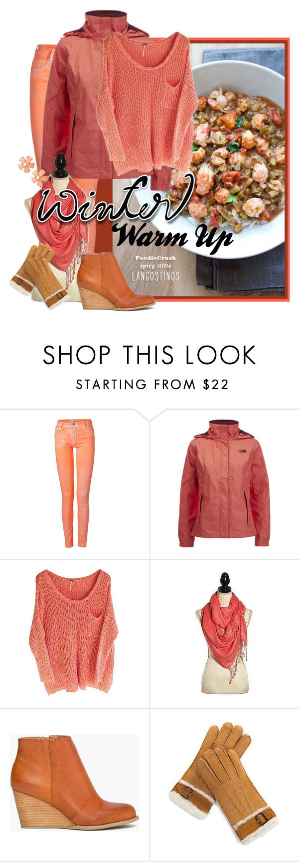 """""""Winter Warm Up"""" by shoppe23 on Polyvore featuring Faith Connexion, The North Face, Overland Sheepskin Co., StreetStyle, Christmas, amazon, winterfashion and wintersweater"""