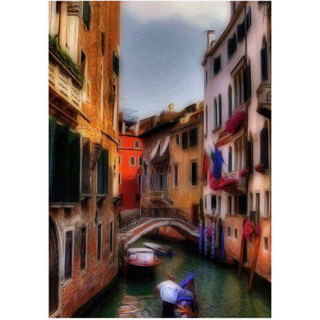 Trademark Fine Art Venetian Canal by Lois Bryan, Size: 18 x 24, Multicolor