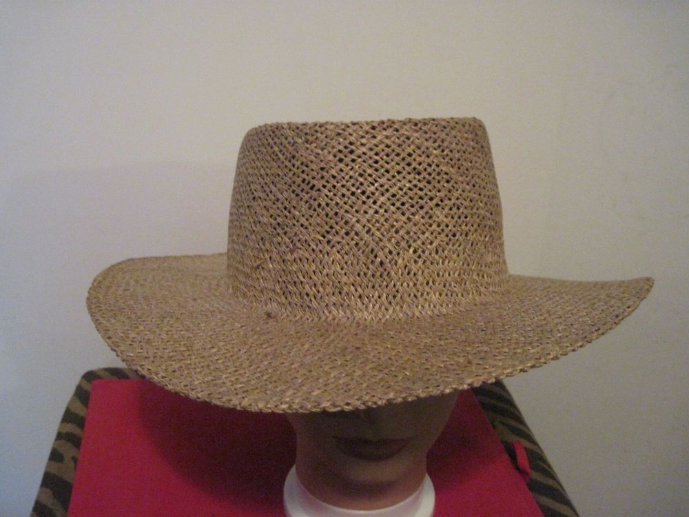 Beige or Lite Brown Straw Hat in Great Condition casual 8 1/2 #hat #casual