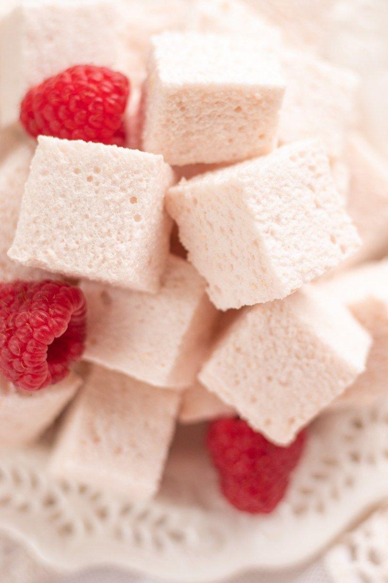 Healthy Low-Calorie Raspberry Marshmallows