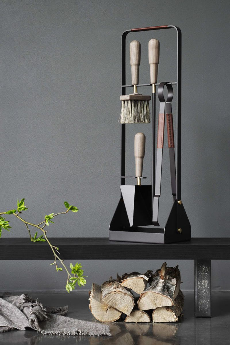 Dress Up Your Fireplace With These Contemporary Fireplace Accessories Fireplace Accessories Scandinavian Fireplace Fireplace Tool Set