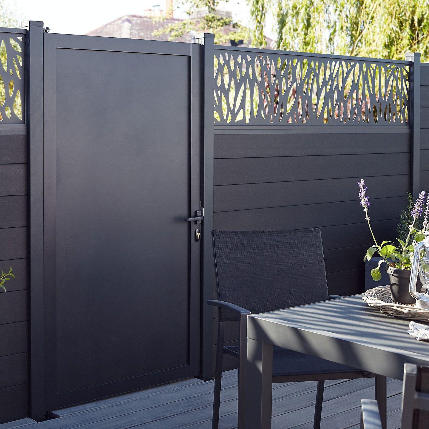 Blooma Neva Gate W 0 93 M H 1 72m Aluminium Gates Back Garden Design Outdoor Gardens Design