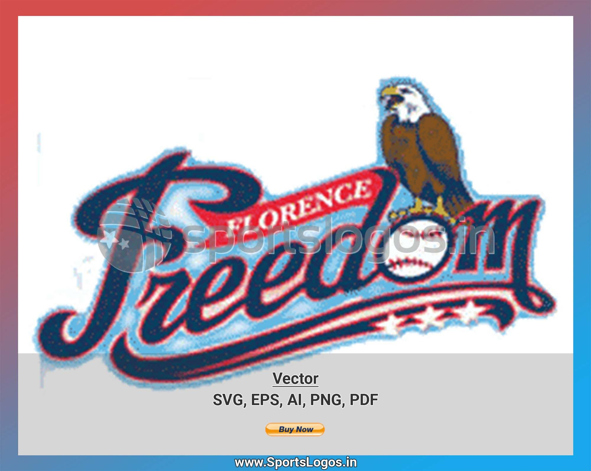 Florence Freedom Baseball Sports Vector Svg Logo In 5 Formats Spln001486 Sports Logos Embroidery Vector For Nfl Nba Nhl Mlb Milb And More In 2020 Sports Baseball Sports Logo Embroidery Logo