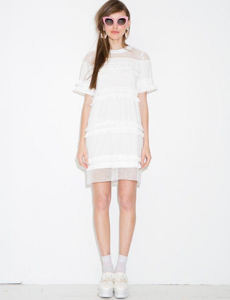 Roxy White Fringe Dress $72.00