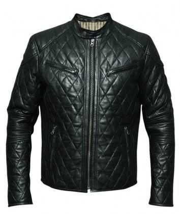 Men S Black Sheep Leather Biker Jacket Reference Number Bkm 285115