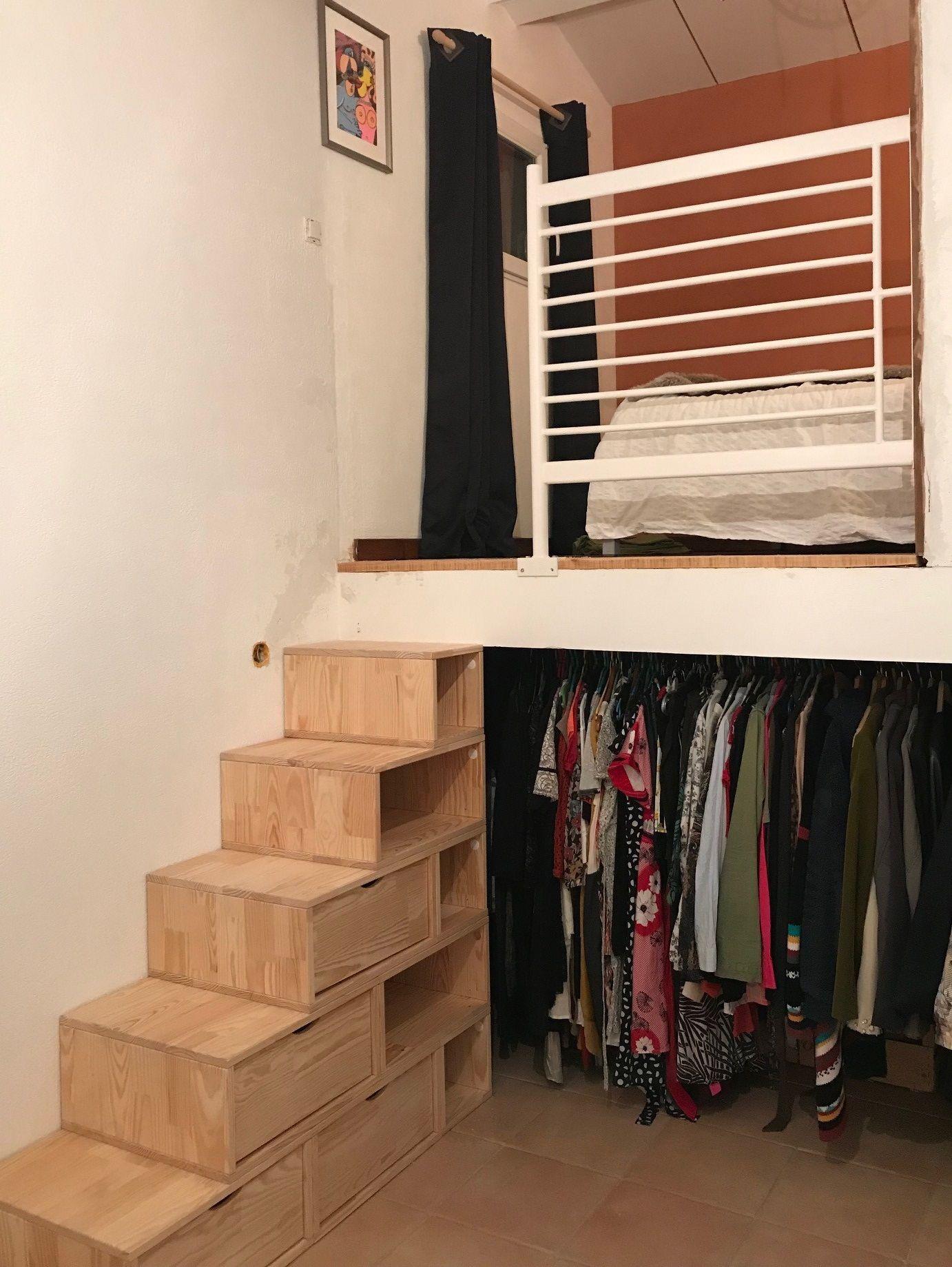 Escalier Cube de rangement hauteur 100 cm en 2020   Meuble escalier, Rangement hauteur et Cube ...
