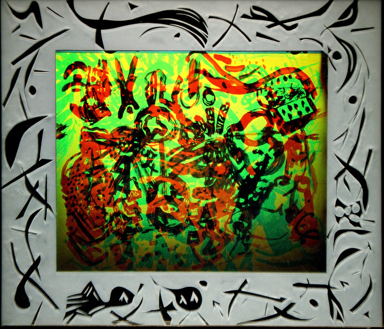 "Kandinsky Doodle, 1991, 19"" x 17"""