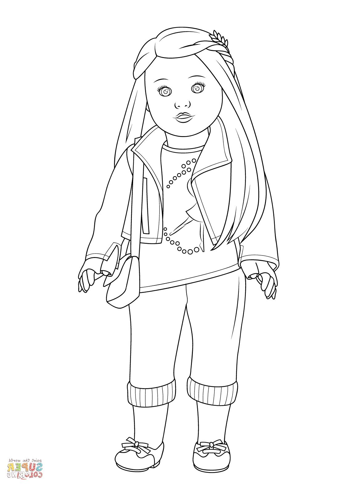 Girl Coloring Pages AQ1H American Girl Coloring Pages | Free ...