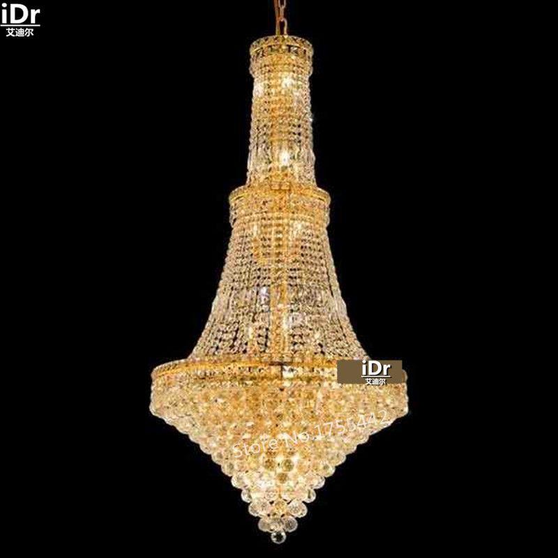 Gold chandeliers simple luxury luxurious hall corridor lamp crystal gold chandeliers simple luxury luxurious hall corridor lamp crystal lamp light lights luxury hotels 70cm w aloadofball Gallery