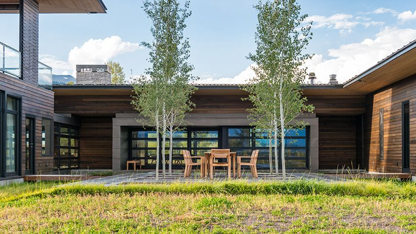 Reverse view. Raised boardwalk patio; trees in center of ... on Front Range Outdoor Living id=15434