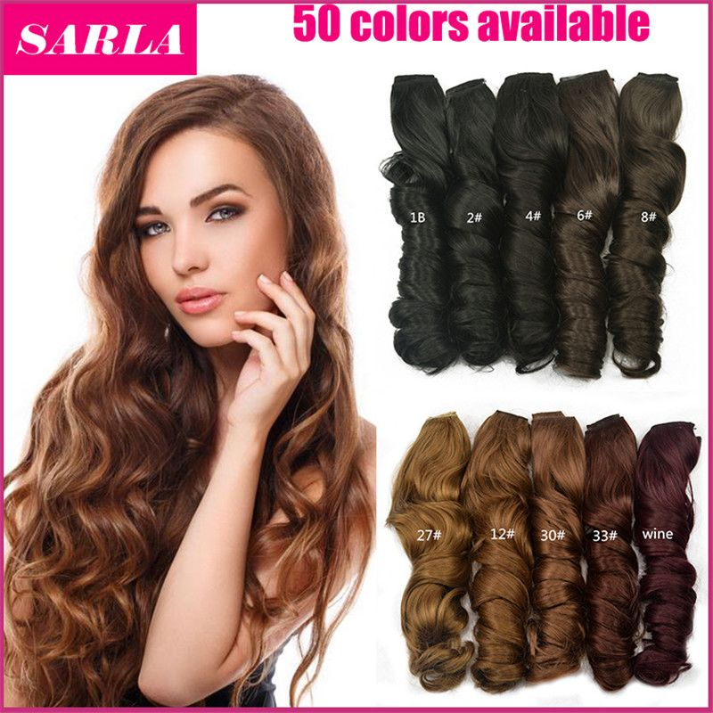 1pc Clip In Hair Extensions 5 Clips 20inch 50cm 130g Synthetic Hair