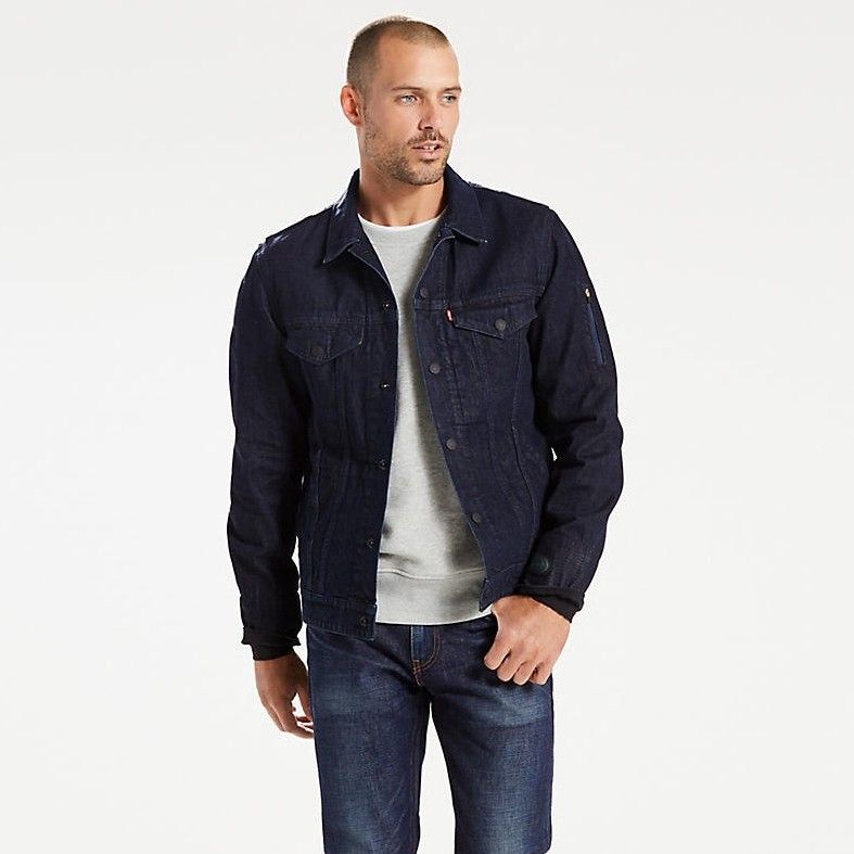 LEVI'S LEVI'S® COMMUTER™ TRUCKER JACKET WITH JACQUARD™ BY GOOGLE - JACQUARD RINSE. #levis #cloth #