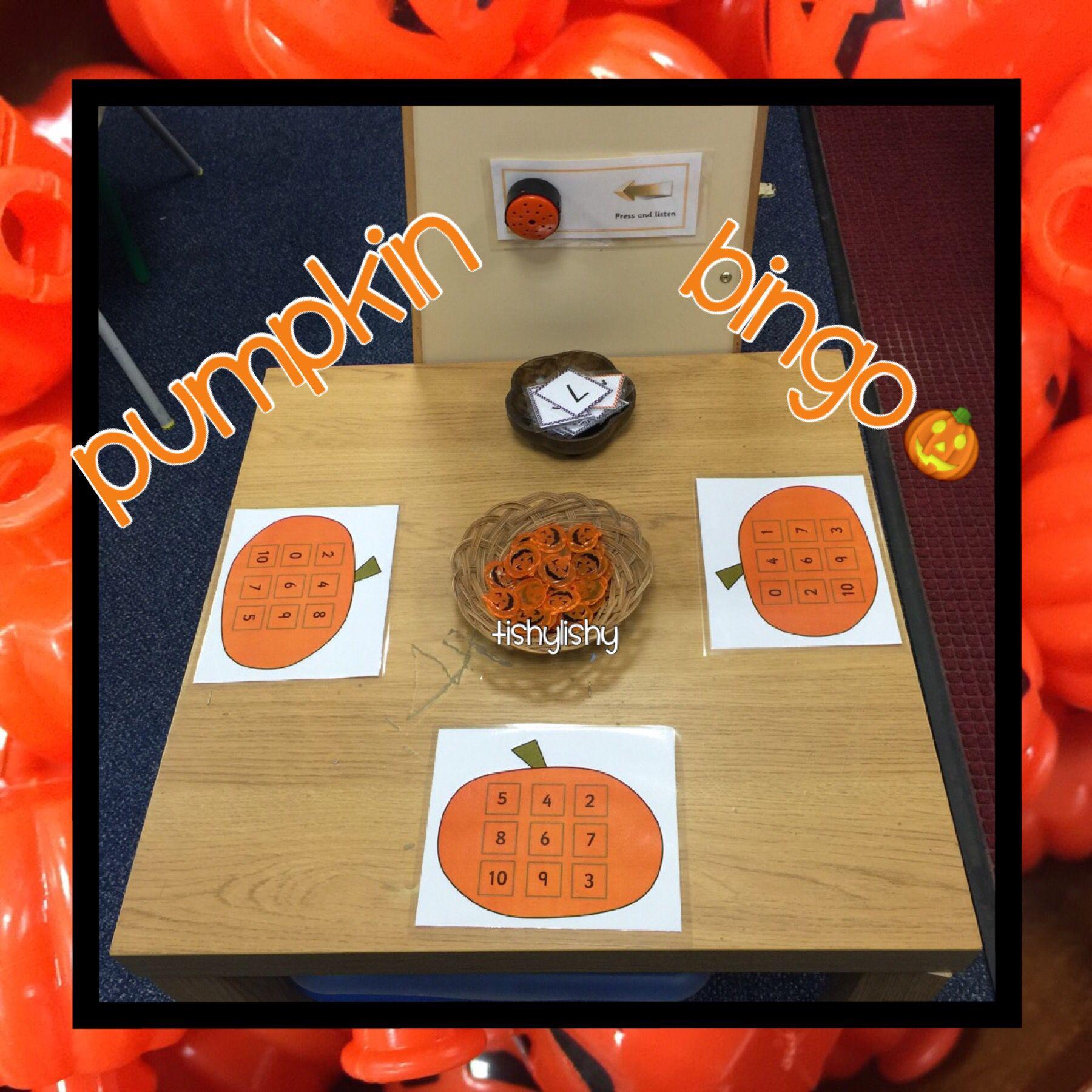 Pumpkin bingo  Halloween math activities, Pumpkin math activities