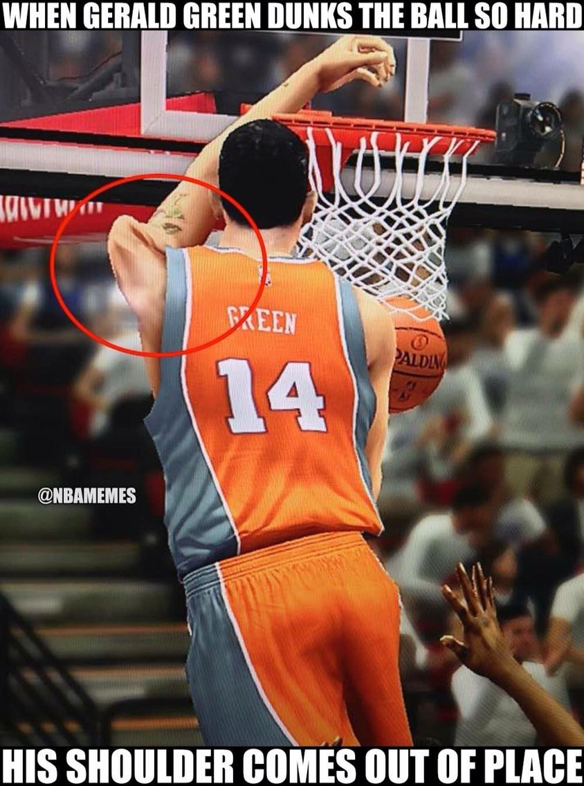 NBA 2K glitch humor lol