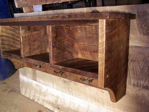 Buy Handmade Reclaimed Barnwood Coat Rack Cubby Shelf With Wrought Magnificent Reclaimed Barn Wood Coat Rack