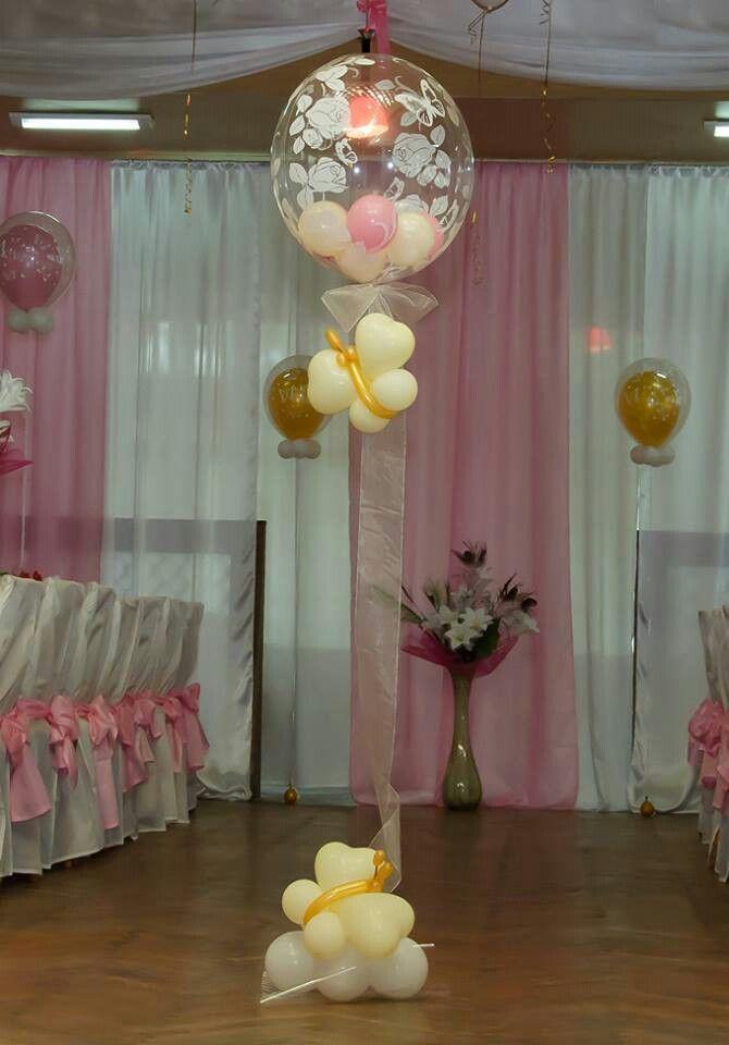 Helium balloon center pieces centros de mesa