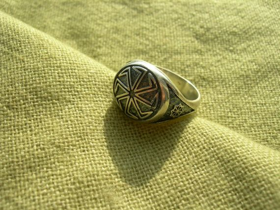 Kolovrat ring  Slavic amulet  Pagan  Solar symbol  Slavic Wheel