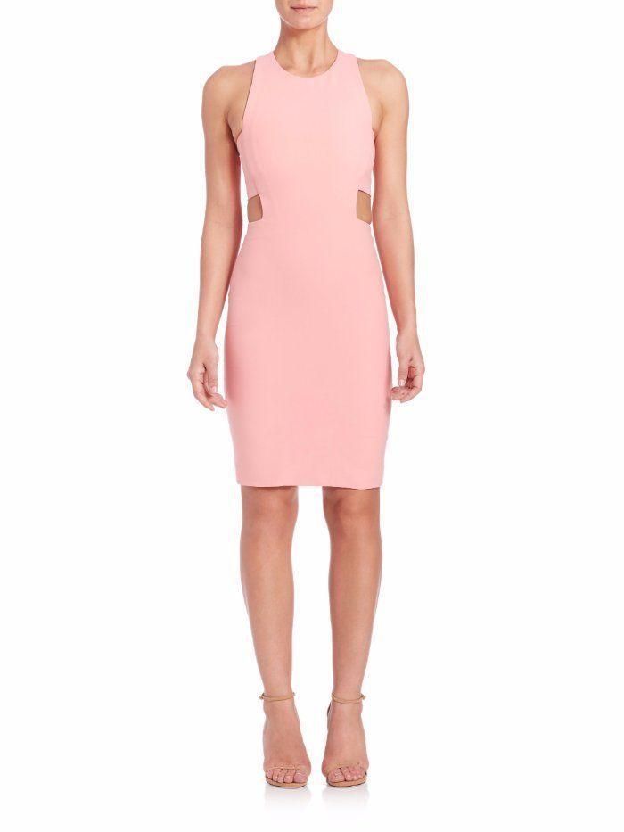 $395 Elizabeth and James Apricot Pink Cut Out Phoenix Sheath Dress 2 ...