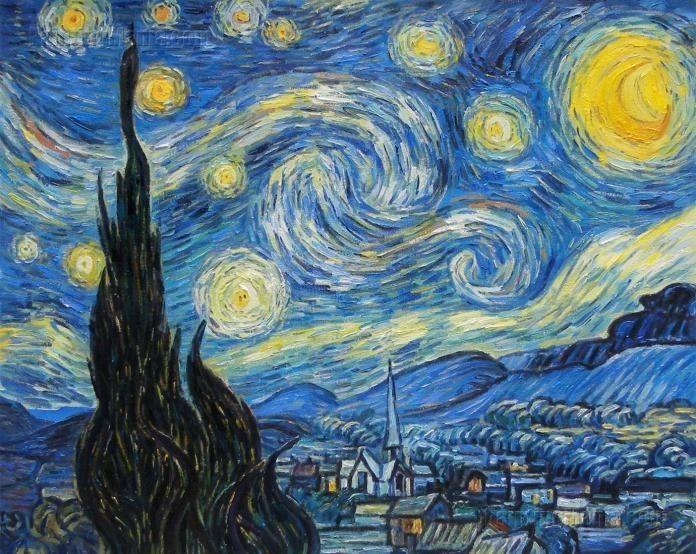 ليلة النجوم لوحة فان جوخ The Starry Night Starry Night Van Gogh Van Gogh Art Paintings Famous