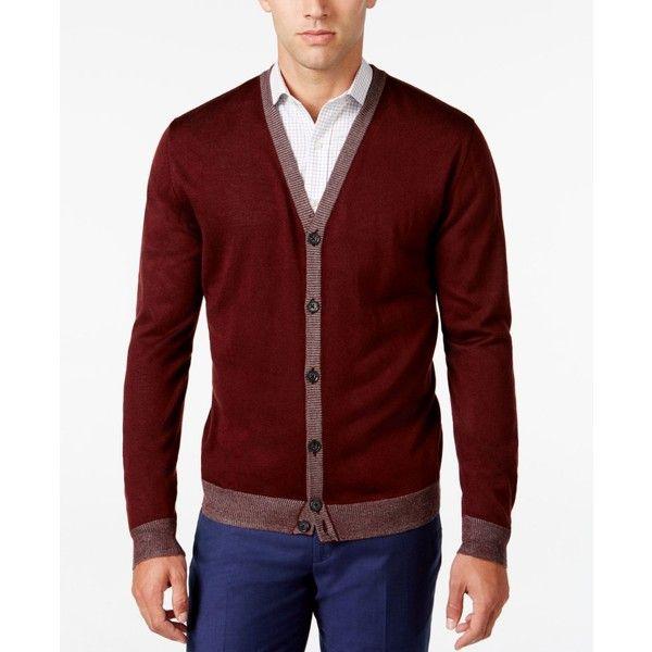 Ryan Seacrest Distinction Men's Lightweight Striped-Trim Cardigan ...