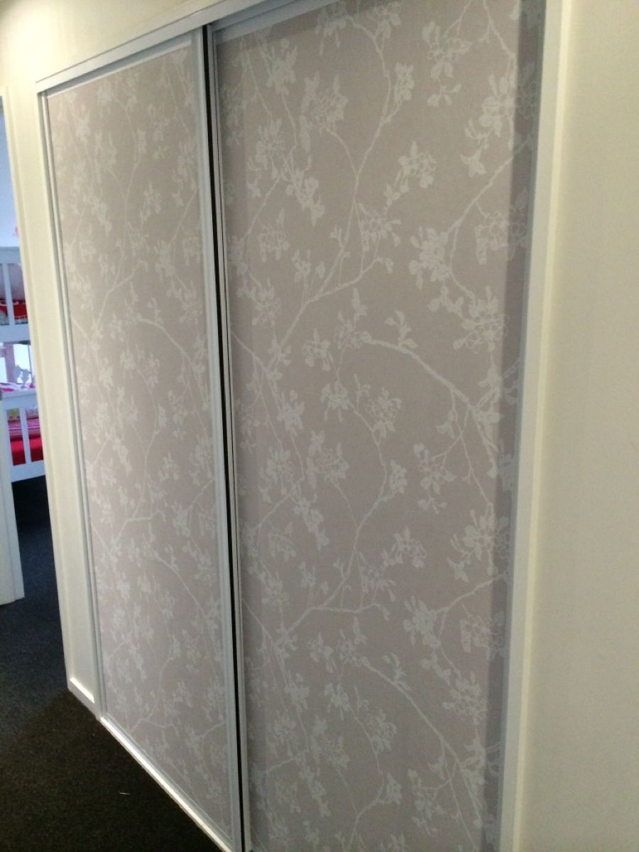Wallpaper Wardrobe Doors Great For A Hallway