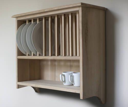 Wall mounted plate rack - oak - but would be much prettier in pine - design & Wall mounted plate rack - oak - but would be much prettier in pine ...