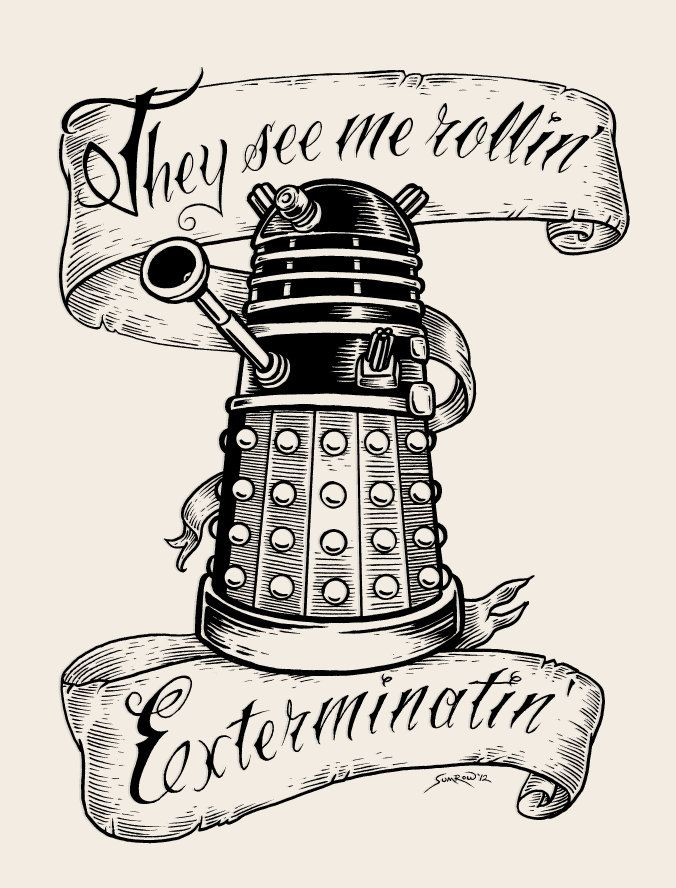 08bbce33163ab Doctor Who limited edition woodblock print: They Hatin'. $35.00, via ...