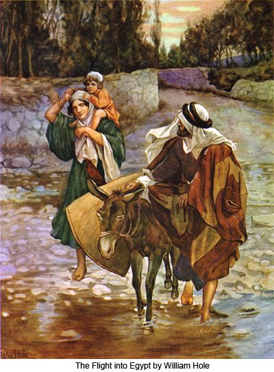 The flight into egypt by william hole journey to for Idea door journey to bethlehem