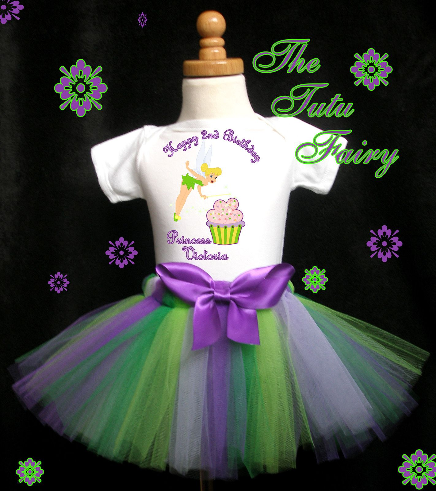 Details About Tinkerbell First 1st Birthday Tutu Set