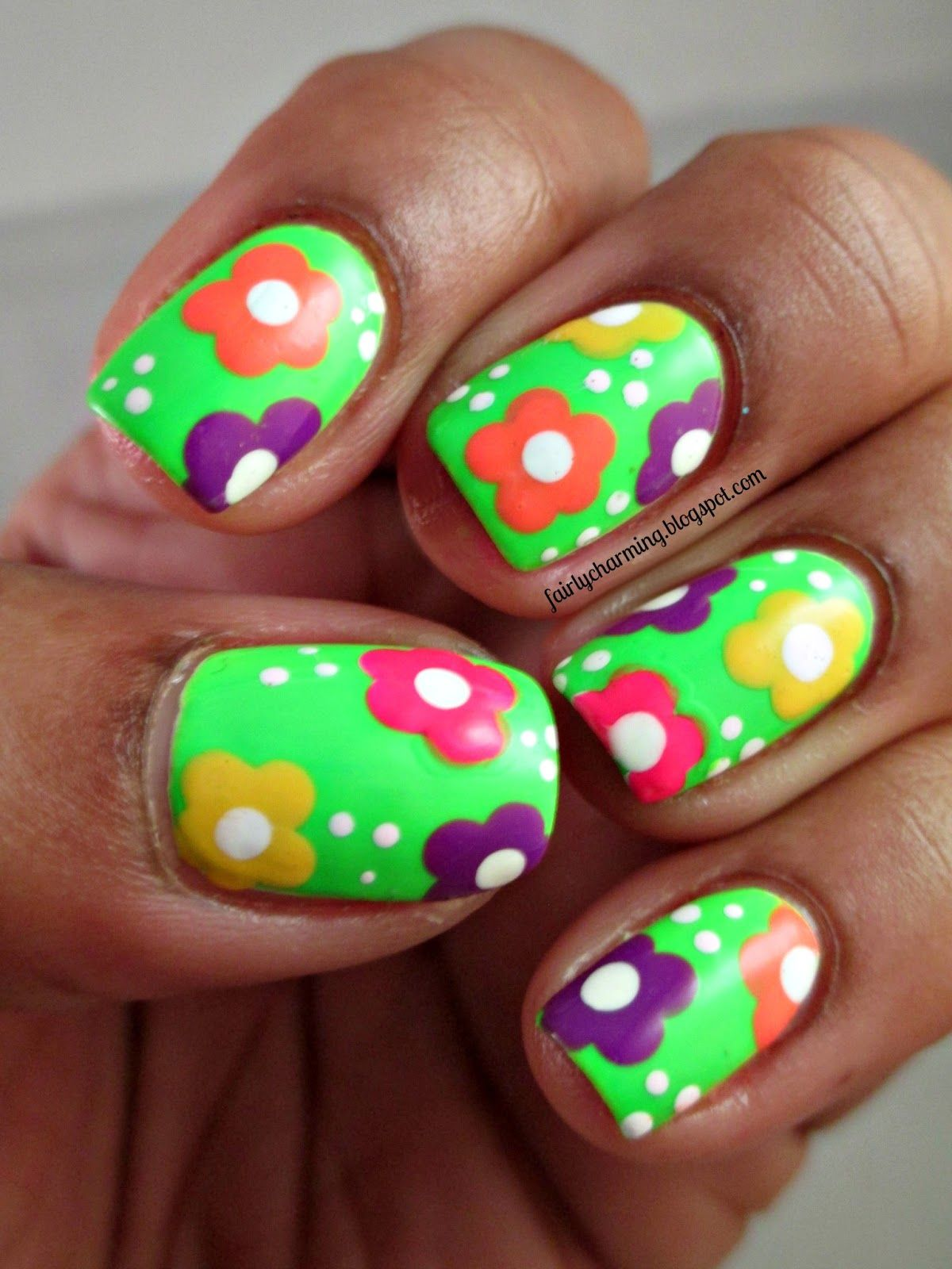 60s nail design gallery nail art and nail design ideas psychedelic flowers hippie 60s neon savina power up orly psychedelic flowers hippie 60s neon savina power prinsesfo Gallery