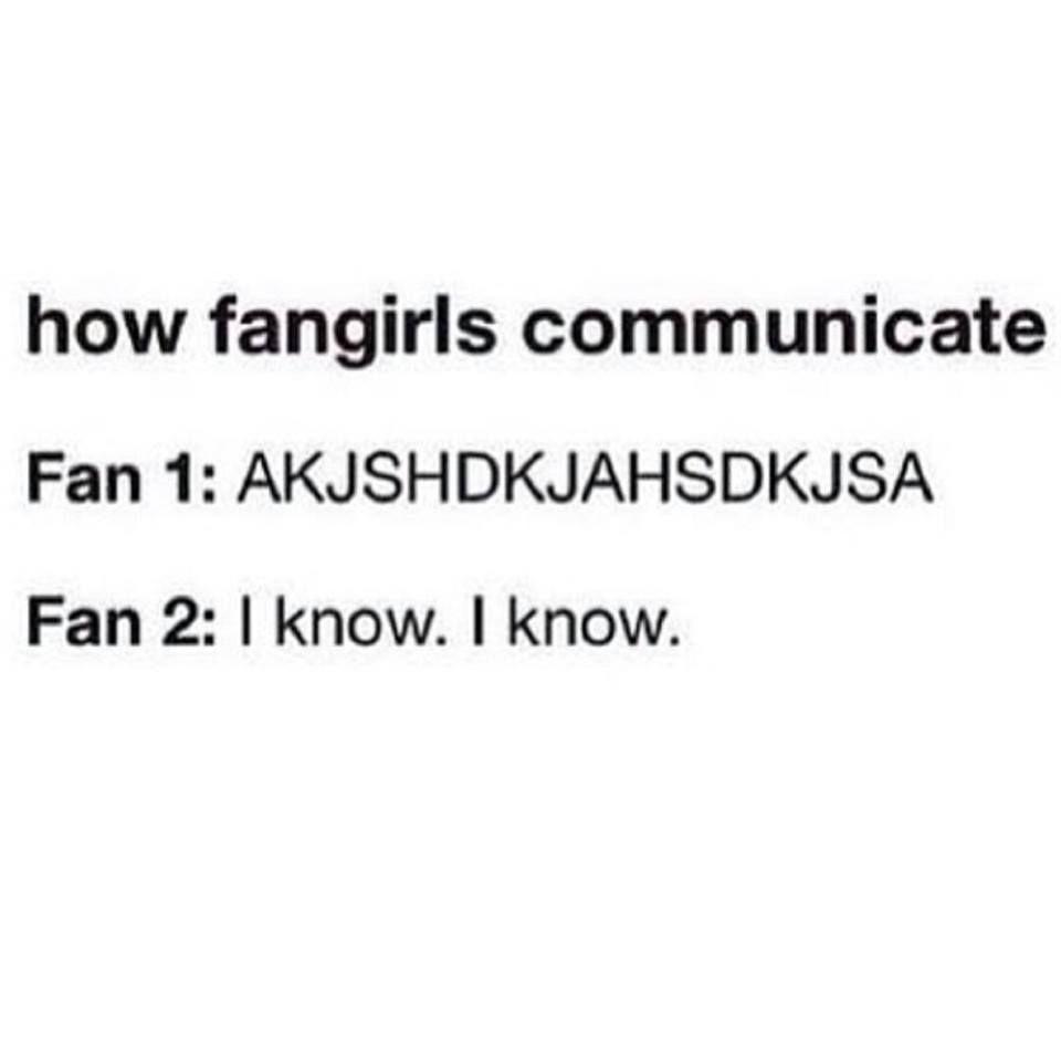 How fangirls communicate