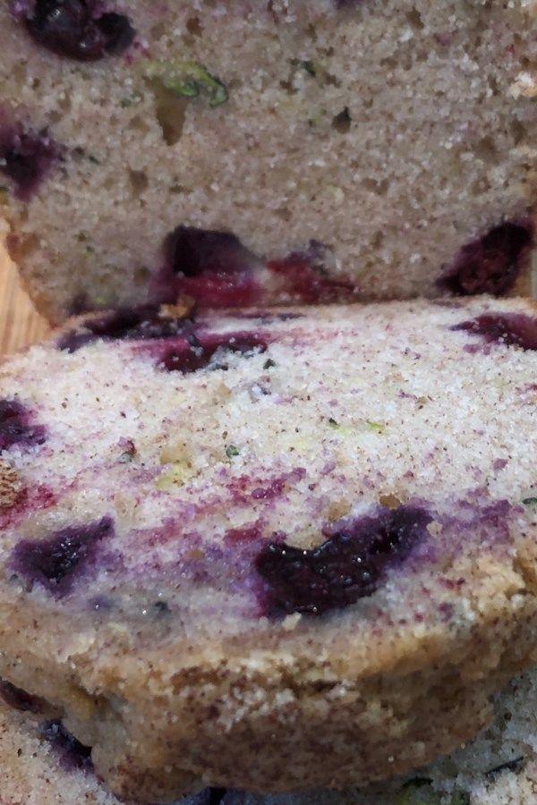 blueberry zucchini bread  recipe in 2020  blueberry