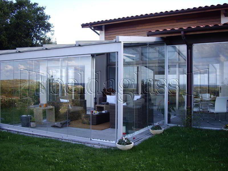 Cerramiento de terraza con cristal acristalamiento for Cortina cristal terraza