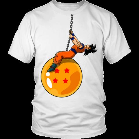 a2ed2f06 Dragonball Z Funny Goku Wrecking Ball Parody T-Shirt - OtakuForest.com