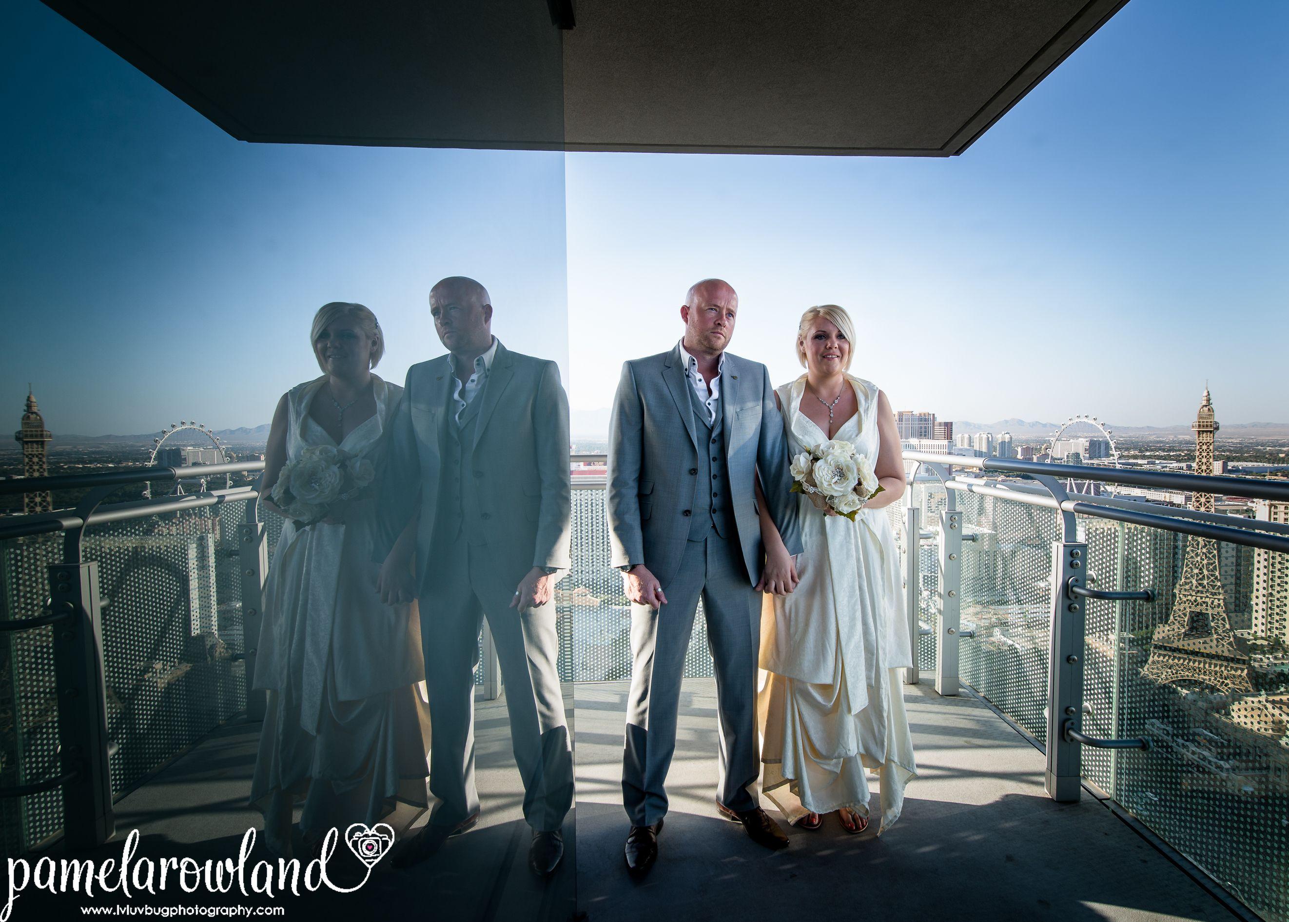 Las Vegas Luv Bug Wedding Ceremony On A Cosmopolitan Balcony Photo Lasvegasluvbug Pam