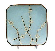 Set Of Two Japanese Sakura Cherry Blossom Square 7 1 2 Inch Plates By Japan 21 25 Coordinates