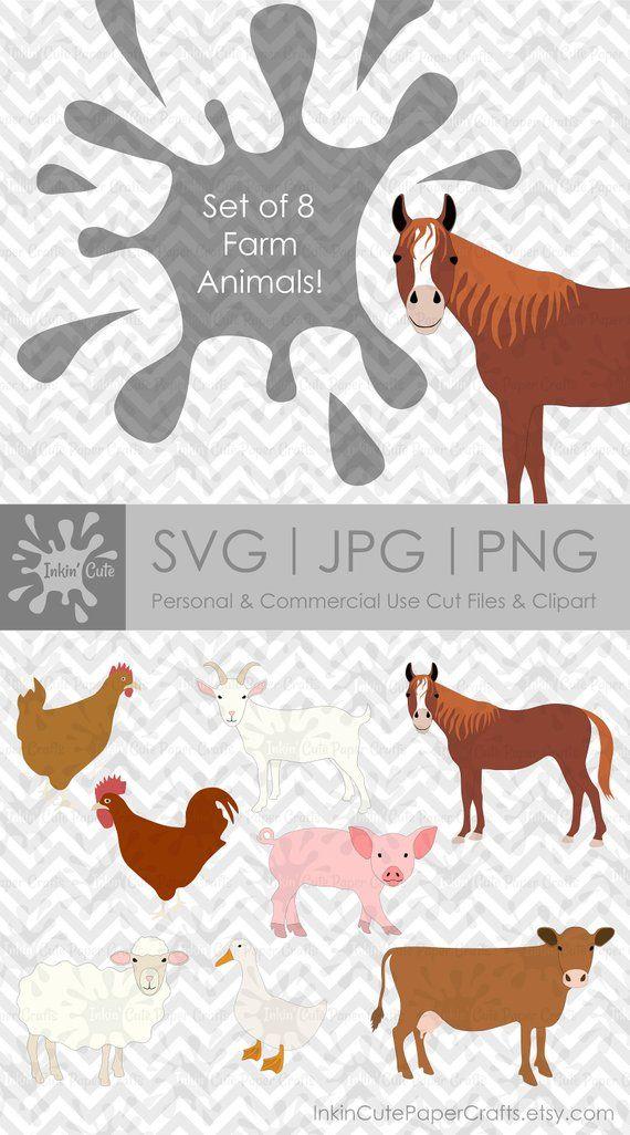 Farm Animal Svg Farm Animal Clipart Barnyard Animal Svg Farm