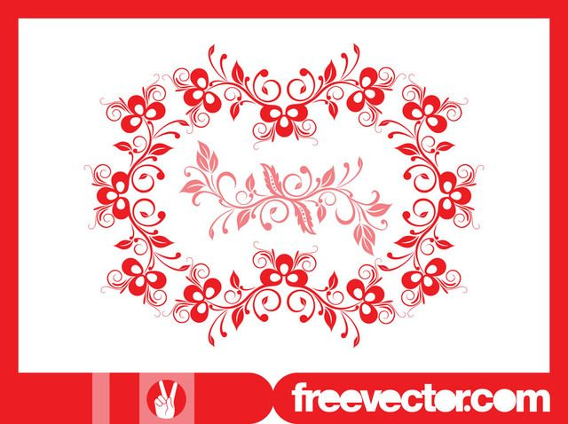 Decorative Wreath with Blooming Flowers Decorative Wreath with Blooming Flowers, Vector by Free Vector License: Attribution ID: 316708...