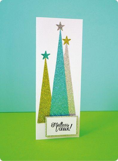 10 cartes de v ux paillettes cartes faire parts cards pinterest carte de voeux. Black Bedroom Furniture Sets. Home Design Ideas