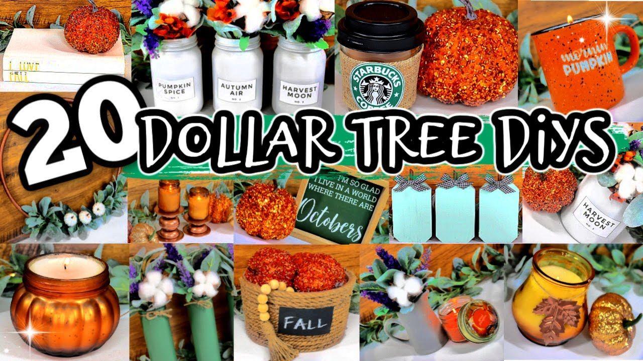 DOLLAR TREE DIY FALL DECOR 2020 *NEW* decorating ideas for