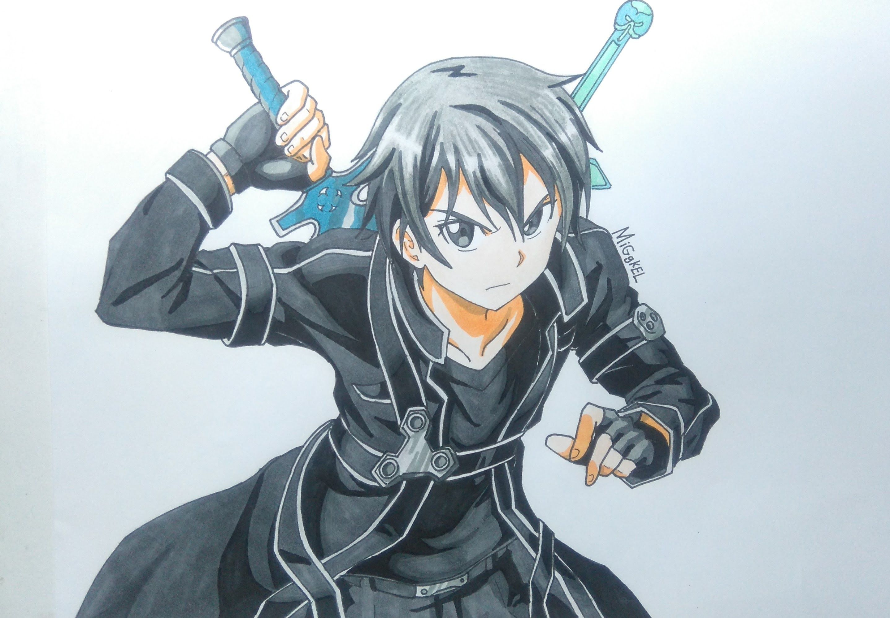 Kiritokun Sword art, Sword art online, Sword drawing