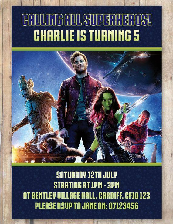 Guardians of the galaxy birthday party invitation by flurgdesigns guardians of the galaxy birthday party invitation by flurgdesigns 500 stopboris Images
