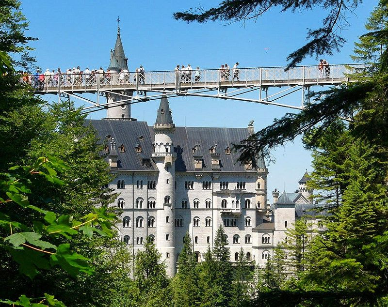 View Of Neuschwanstein Castle From Marienbrucke Mary S Bridge Credit Robert Bock Neuschwanstein Castle Germany Castles Castle