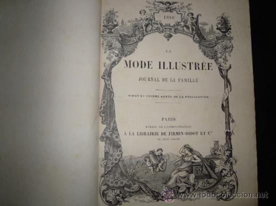 Revista de moda francesa. 1880