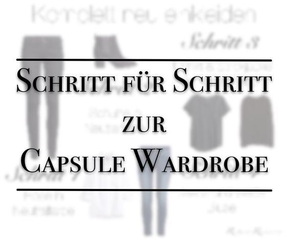 schritt f r schritt neu einkleiden moda kleider kleiderschrank und minimalistischer. Black Bedroom Furniture Sets. Home Design Ideas
