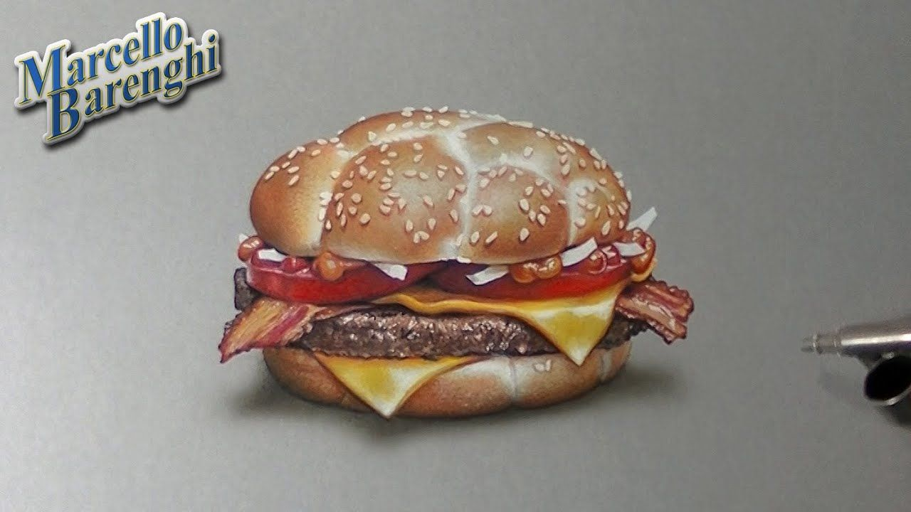 Drawing Time Lapse: McDonald's McHeaton (2 of 5 burgers