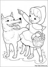 Dibujos De Caperucita Roja Para Colorear En Colorear Net Imagenes De Caperucita Roja Lobo De La Caperucita Roja Caperucita Roja Dibujo