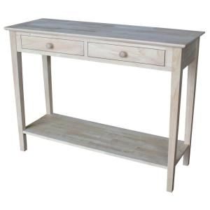 International Concepts Spencer Unfinished Storage Console Table