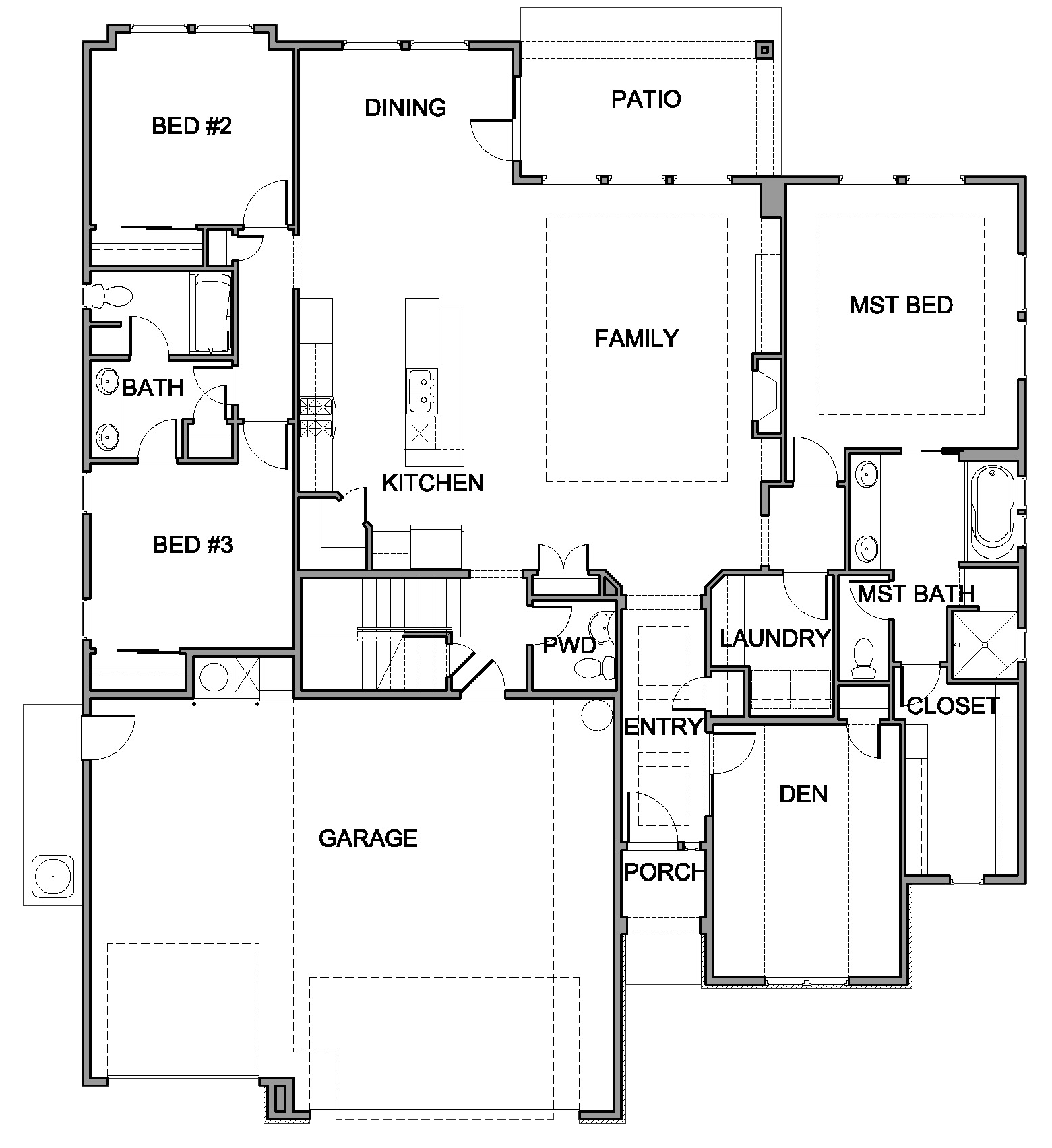 Bayview Floor Plan by Brighton Homes of Eagle Idaho – Idaho Home Plans